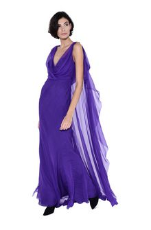 ALBERTA FERRETTI Evening dress with train Long Dress D a
