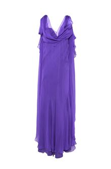 ALBERTA FERRETTI Evening dress with train Long Dress D e