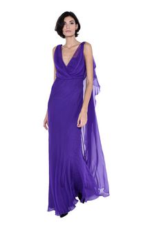 ALBERTA FERRETTI Evening dress with train Long Dress D f