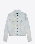 SAINT LAURENT Casual Jackets U Jeans jacket in faded blue denim f