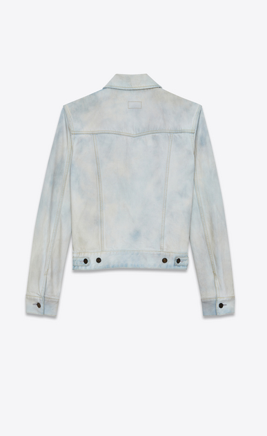 SAINT LAURENT Casual Jackets Man Jeans jacket in faded blue denim b_V4