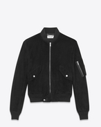 SAINT LAURENT Leather jacket U Bomber jacket in black suede f
