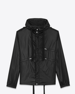 SAINT LAURENT Casual Jackets U Windbreaker in shiny black nylon f