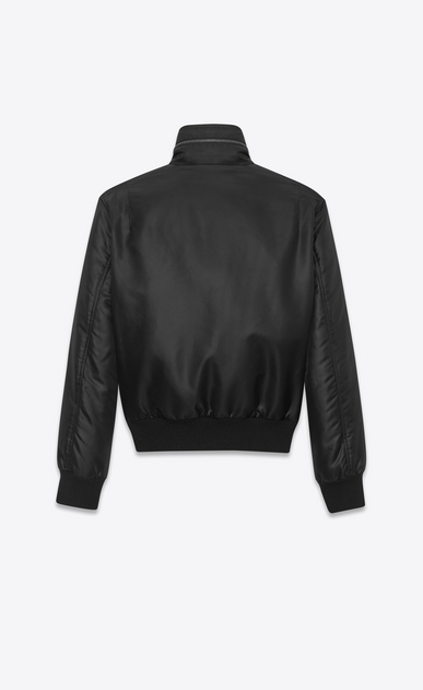 SAINT LAURENT Casual Jackets U Multi-pocket bomber jacket in black nylon b_V4