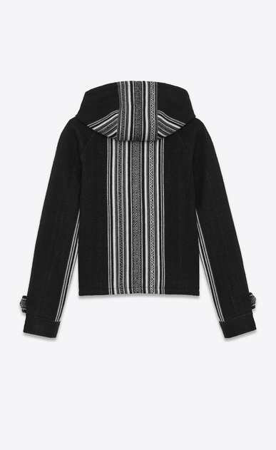 SAINT LAURENT Casual Jackets Man BAJA jacket in black wool and cotton with Peruvian motifs b_V4
