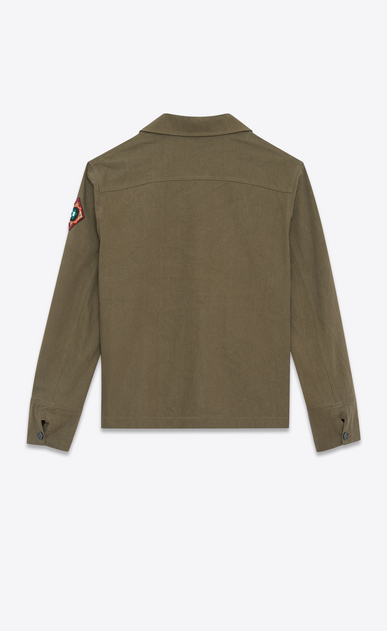 SAINT LAURENT Casual Jackets U Tunic with Indian patches in khaki gabardine b_V4