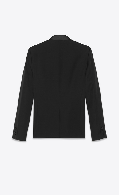 SAINT LAURENT Evening Jackets Man jacket with shawl collar in organic black gunpowder b_V4