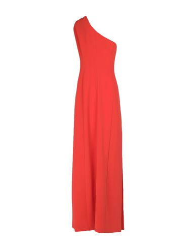 Фото 2 - Женское длинное платье  оранжевого цвета