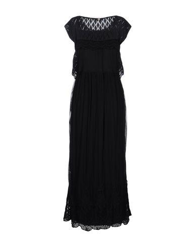 Фото 2 - Женское длинное платье TWINSET черного цвета