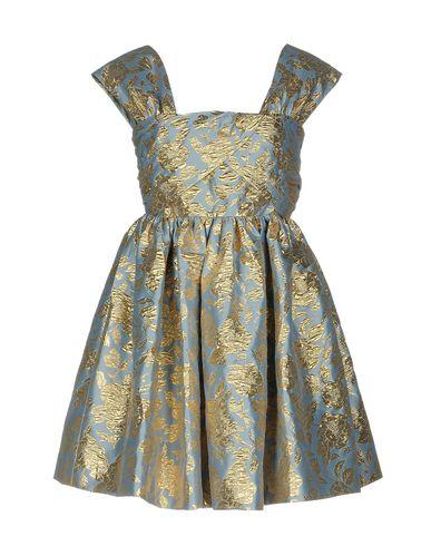 Фото - Женское короткое платье MSGM небесно-голубого цвета