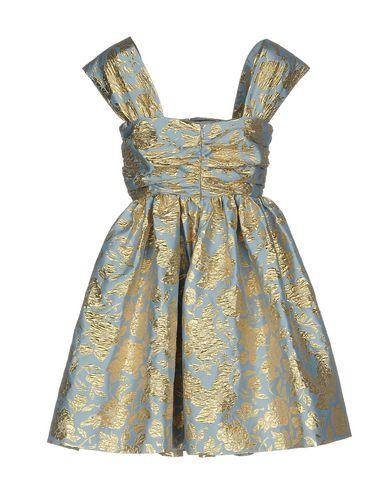 Фото 2 - Женское короткое платье MSGM небесно-голубого цвета