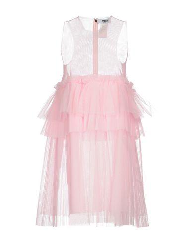 Фото - Женское короткое платье MSGM розового цвета