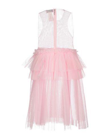 Фото 2 - Женское короткое платье MSGM розового цвета