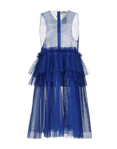 Купить Женское короткое платье MSGM синего цвета