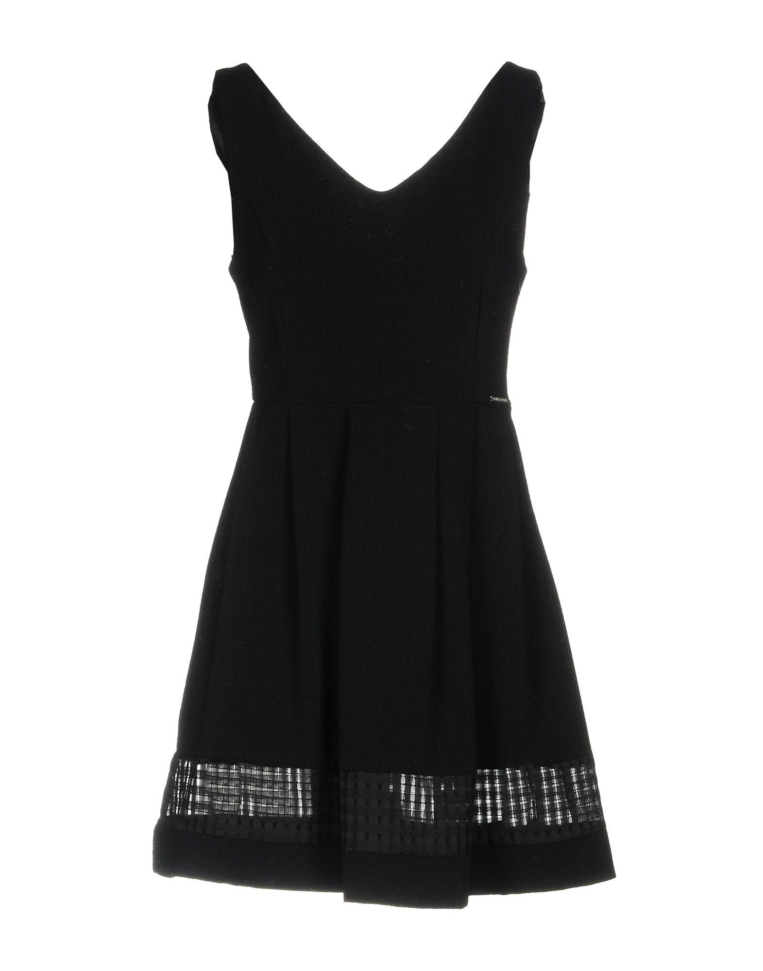 цена MAISON ESPIN Короткое платье онлайн в 2017 году