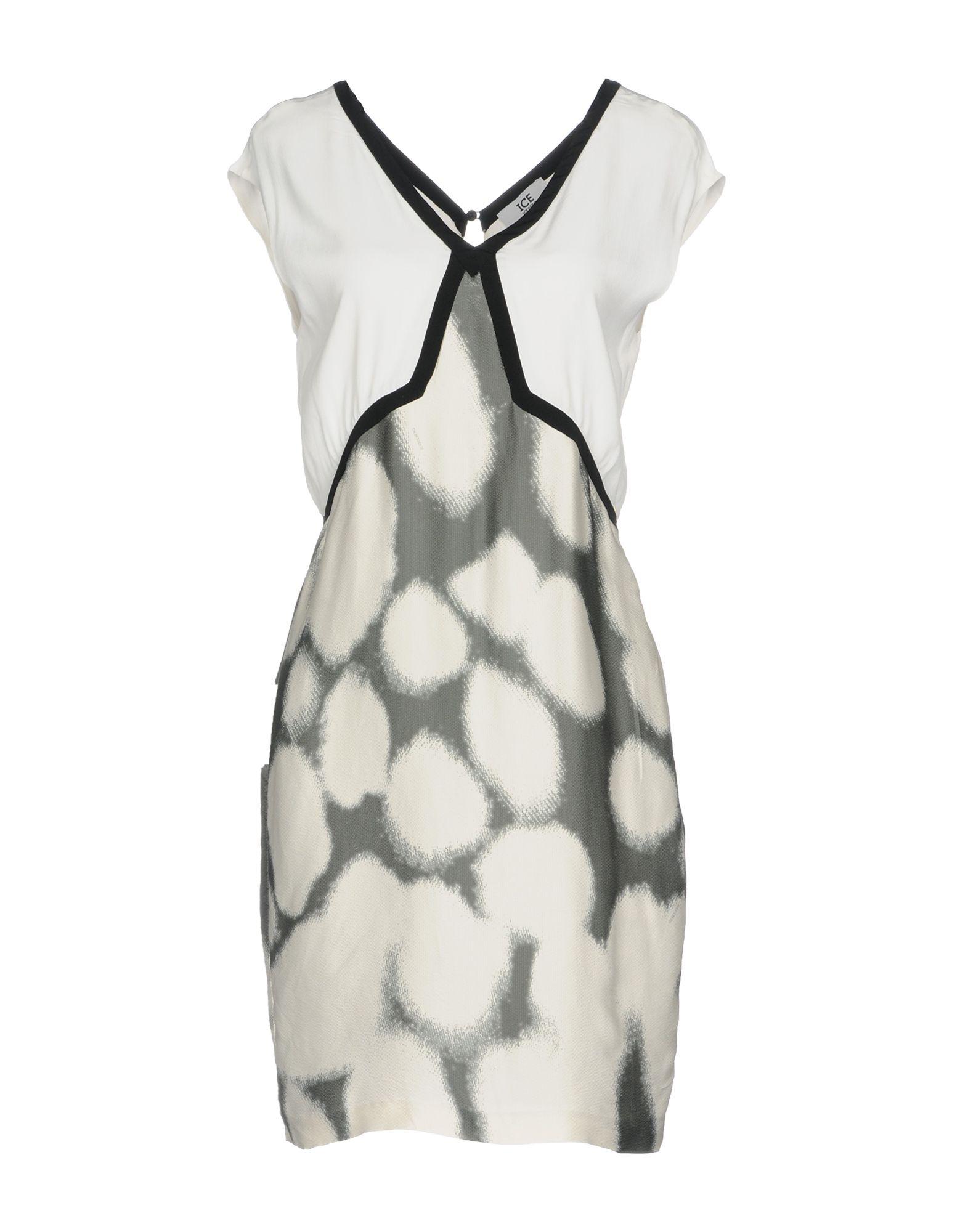 ICE ICEBERG Damen Kurzes Kleid Farbe Weiß Größe 3
