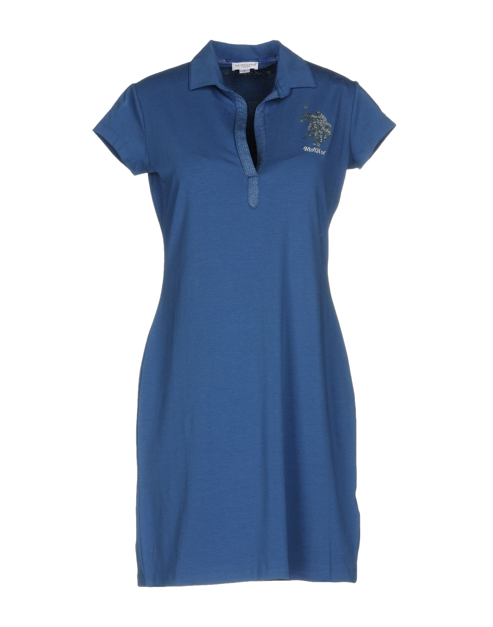 U.S.POLO ASSN. Damen Kurzes Kleid Farbe Blaugrau Größe 5
