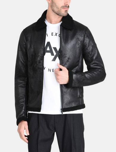 FAUX-SHEARLING B3 JACKET