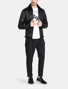 ARMANI EXCHANGE FAUX-SHEARLING B3 JACKET Jacket [*** pickupInStoreShippingNotGuaranteed_info ***] a