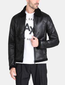 ARMANI EXCHANGE FAUX-SHEARLING B3 JACKET Jacket Man f