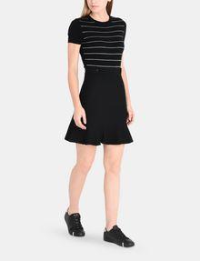 ARMANI EXCHANGE METALLIC STRIPE FIT AND FLARE DRESS Mini dress Woman a