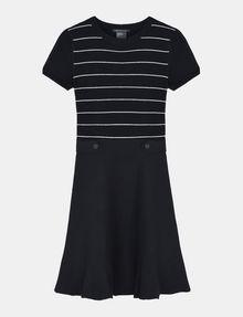 ARMANI EXCHANGE METALLIC STRIPE FIT AND FLARE DRESS Mini dress Woman b