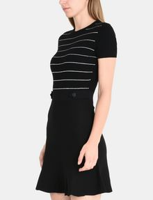 ARMANI EXCHANGE METALLIC STRIPE FIT AND FLARE DRESS Mini dress Woman d