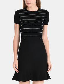 ARMANI EXCHANGE METALLIC STRIPE FIT AND FLARE DRESS Mini dress Woman f