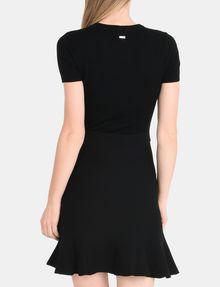 ARMANI EXCHANGE METALLIC STRIPE FIT AND FLARE DRESS Mini dress Woman r