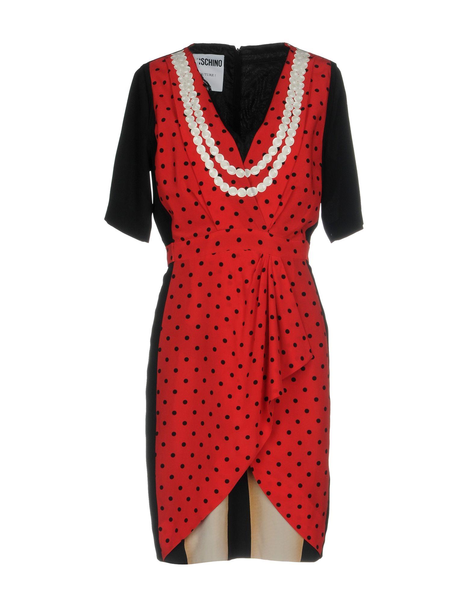 цена MOSCHINO COUTURE Короткое платье онлайн в 2017 году