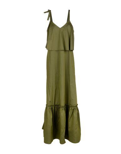 Длинное платье SUOLI. Цвет: зеленый-милитари