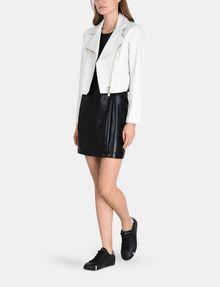 ARMANI EXCHANGE HIGH-SHINE CUTOUT WAIST SHEATH Mini dress Woman a