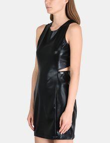 ARMANI EXCHANGE HIGH-SHINE CUTOUT WAIST SHEATH Mini dress Woman d