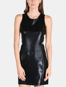 ARMANI EXCHANGE HIGH-SHINE CUTOUT WAIST SHEATH Mini dress Woman f