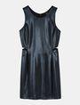 ARMANI EXCHANGE HIGH-SHINE CUTOUT WAIST SHEATH Mini dress Woman b