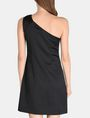 ARMANI EXCHANGE ONE-SHOULDER A-LINE DRESS Mini dress Woman r