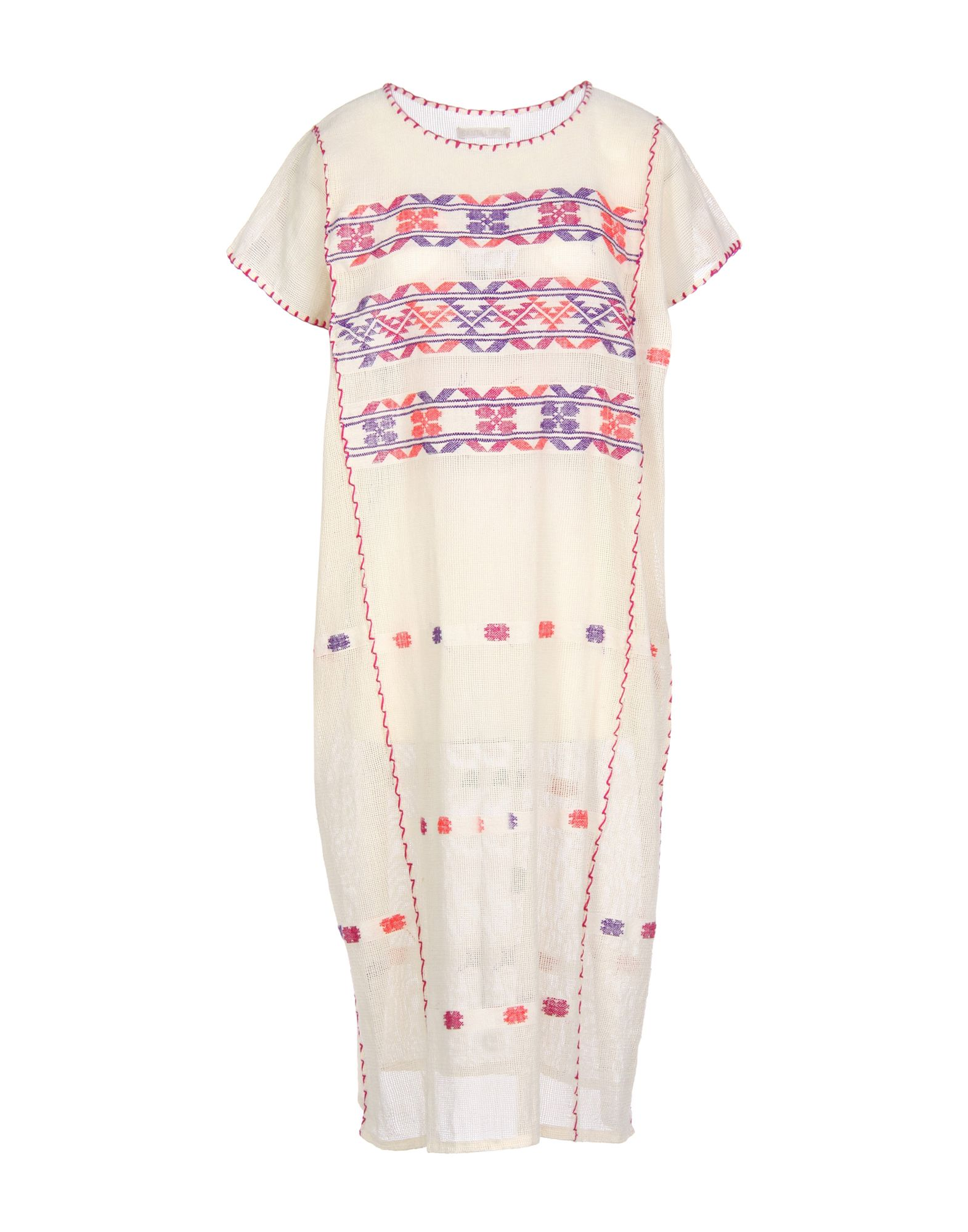 SANTA LUPITA Knee-Length Dress in Ivory