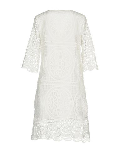 Фото 2 - Платье до колена от DARLING London белого цвета