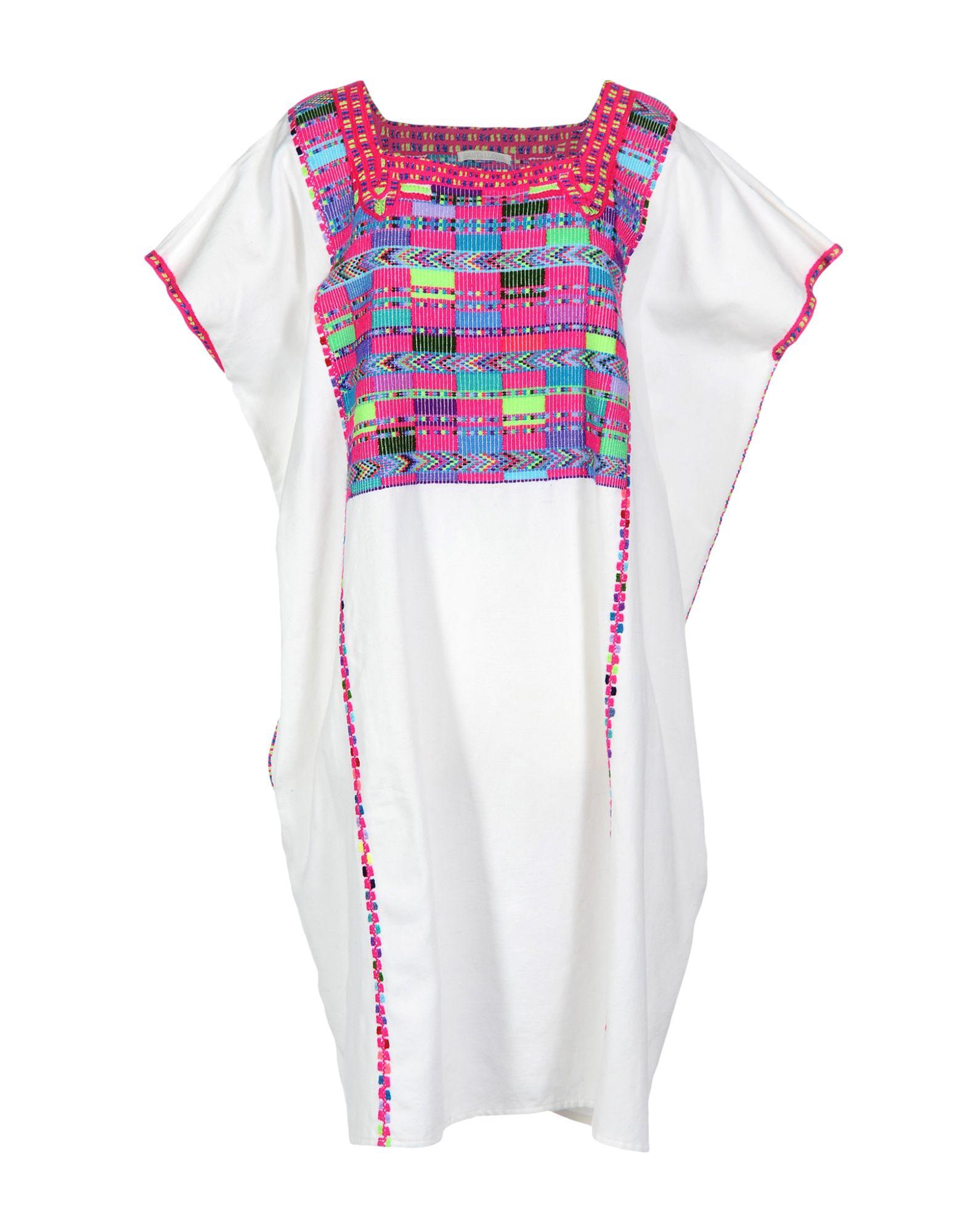 SANTA LUPITA Knee-Length Dress in White