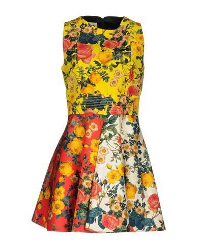 Фото - Женское короткое платье  желтого цвета