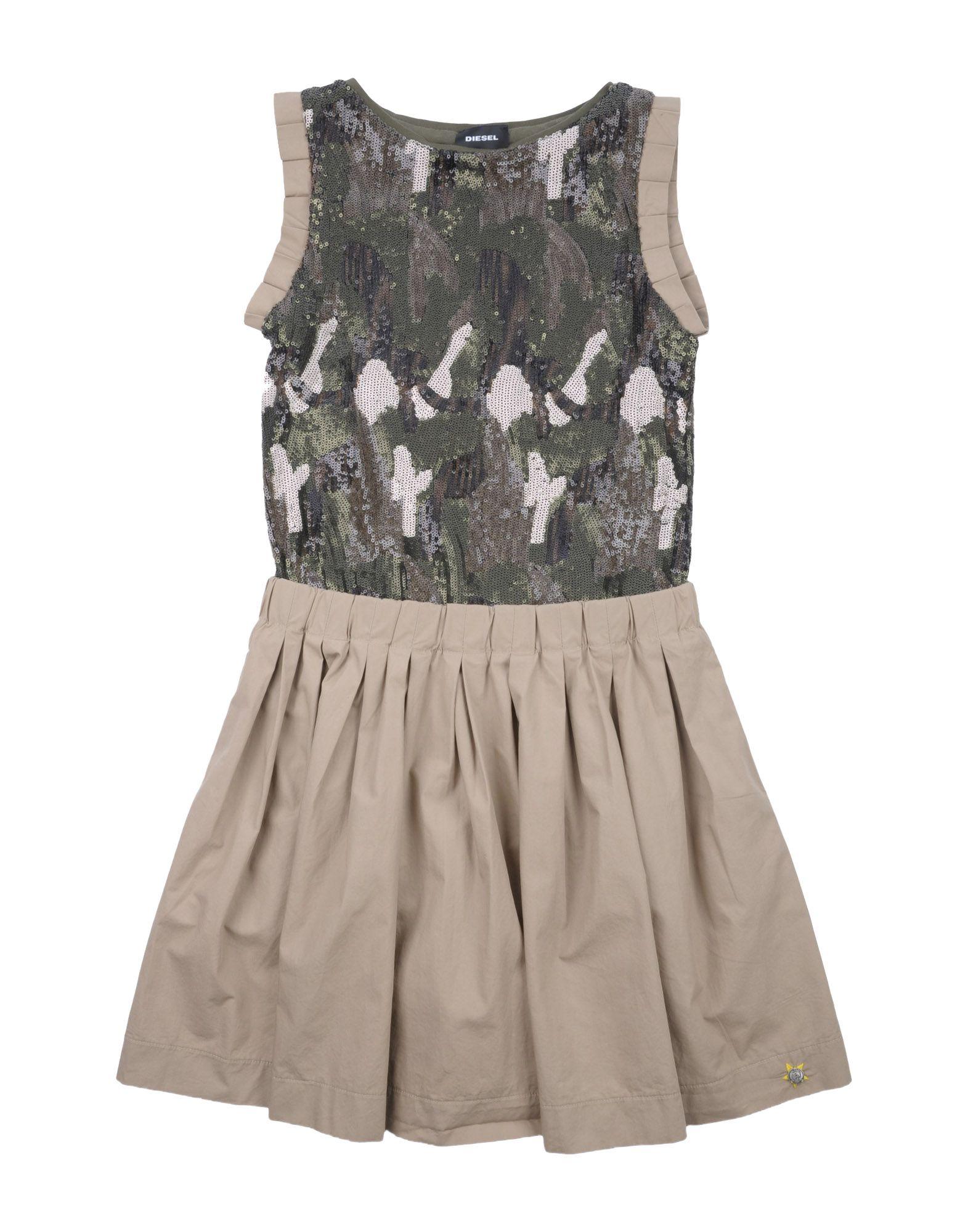DIESEL Mädchen 9-16 jahre Kleid Farbe Beige Größe 8