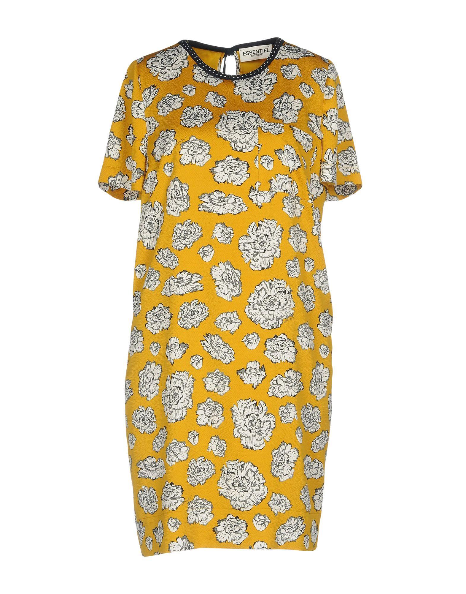 ESSENTIEL ANTWERP Короткое платье essentiel antwerp голубое платье рубашка с поясом