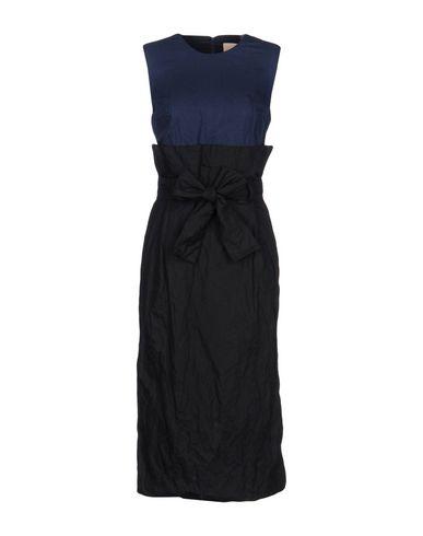 Фото - Платье длиной 3/4 темно-синего цвета