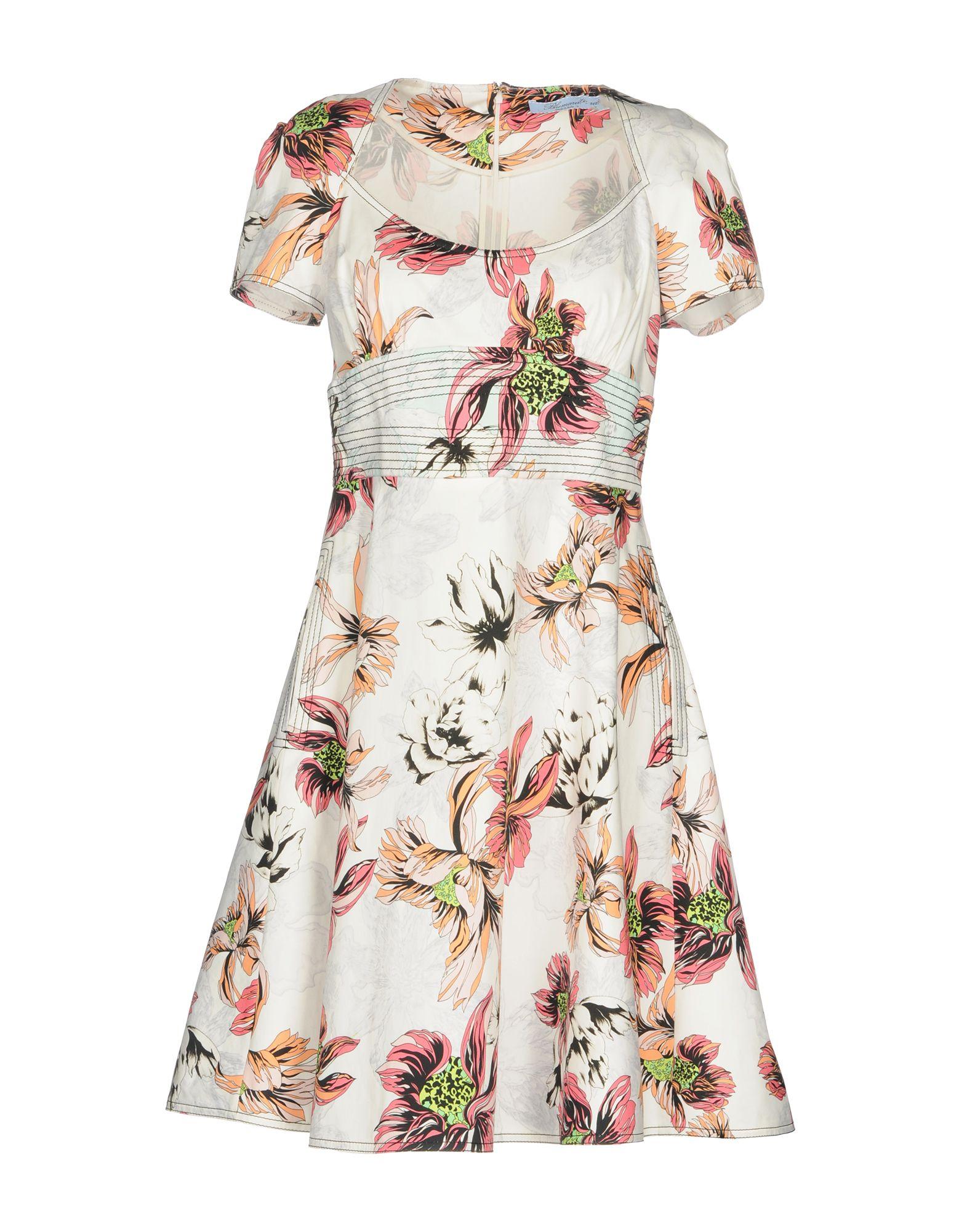 BLUMARINE Damen Kurzes Kleid Farbe Weiß Größe 4