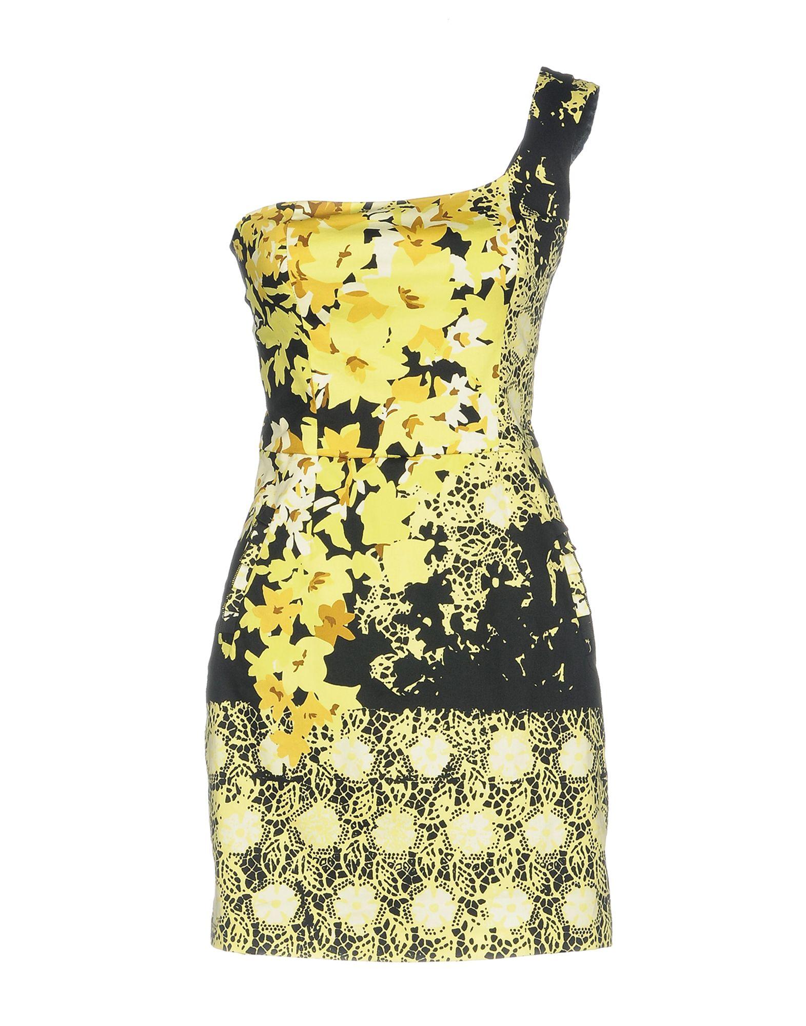 LIU •JO Damen Kurzes Kleid Farbe Gelb Größe 5