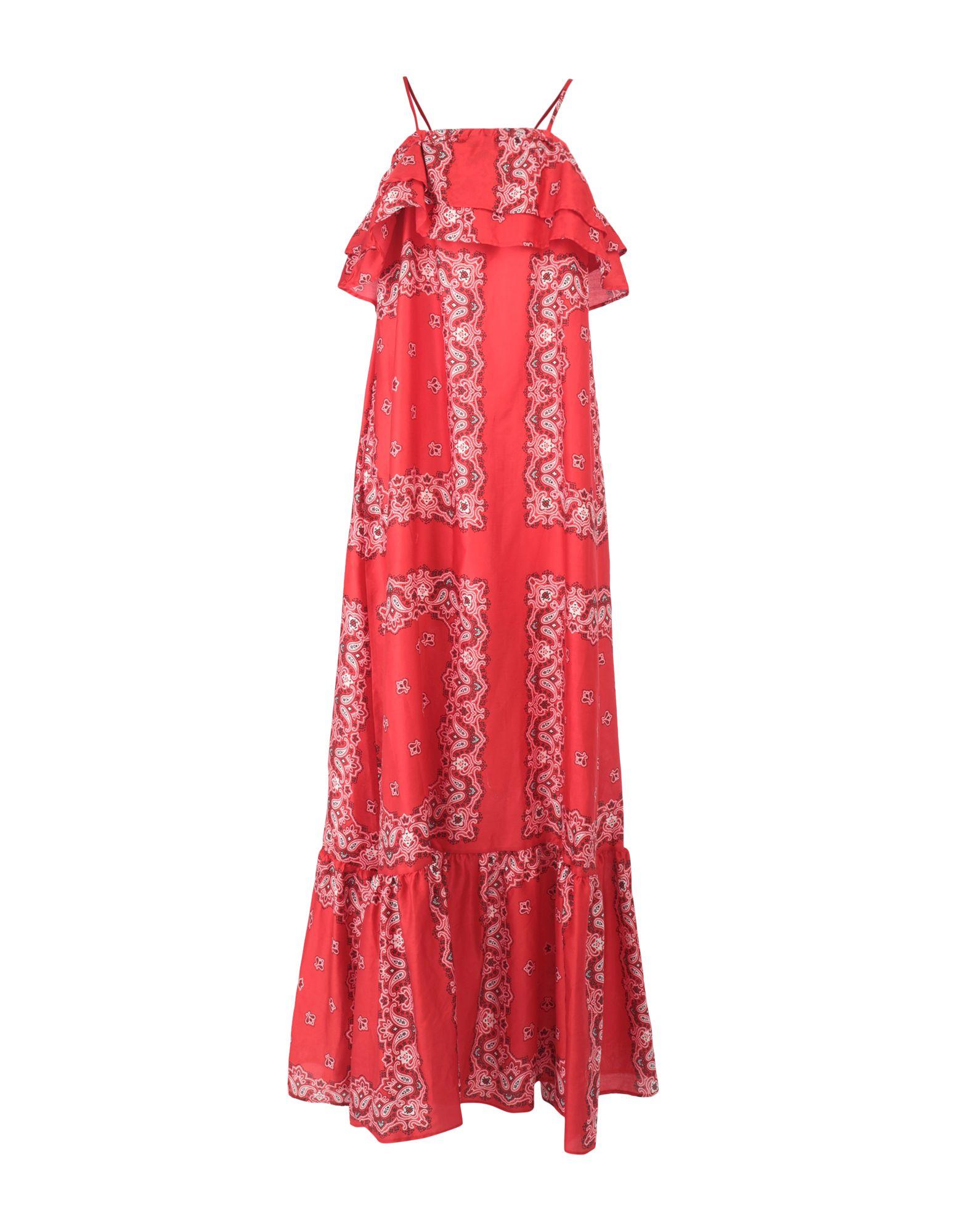 《セール開催中》VICOLO レディース ロングワンピース&ドレス レッド one size コットン 100%