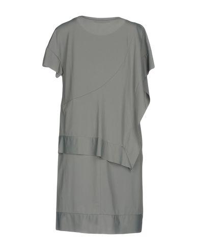 Фото 2 - Женское короткое платье OBLIQUE CREATIONS серого цвета