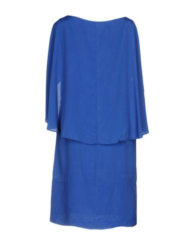 Фото 2 - Женское короткое платье OBLIQUE CREATIONS ярко-синего цвета