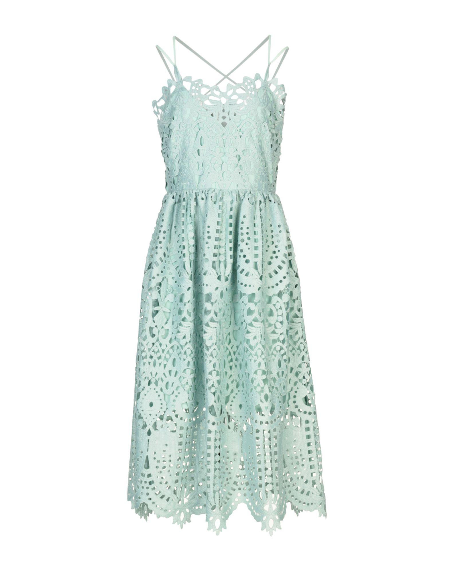 PERSEVERANCE Midi Dress in Sky Blue