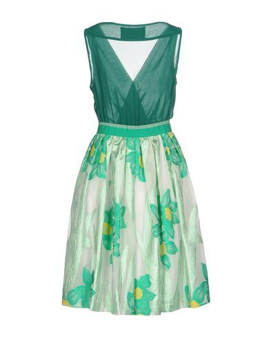 Фото 2 - Платье до колена от CHRISTIAN PELLIZZARI зеленого цвета